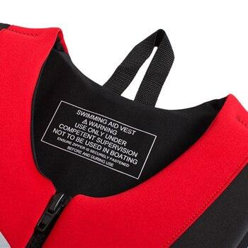 спасательные жилеты для каякинга | 2019 неопреновый спасательный жилет Каякинг лодочный спасательный жилет Водные виды спорта рыболовный жилет взрослый спасательный жилет
