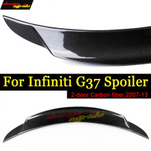G37 Spoiler Rear Trunk Wing Lip Tail Carbon fiber For infiniti 4-Door Sedan wing 2007-2013