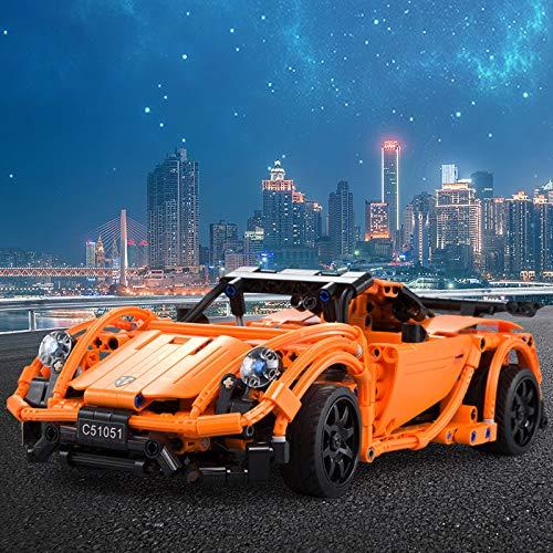 421 pièces Puzzle 3D 2.4 GHz RC voiture de course modèle développement intellectuel jouets éducatifs cadeau d'anniversaire pour enfants enfants en bas âge