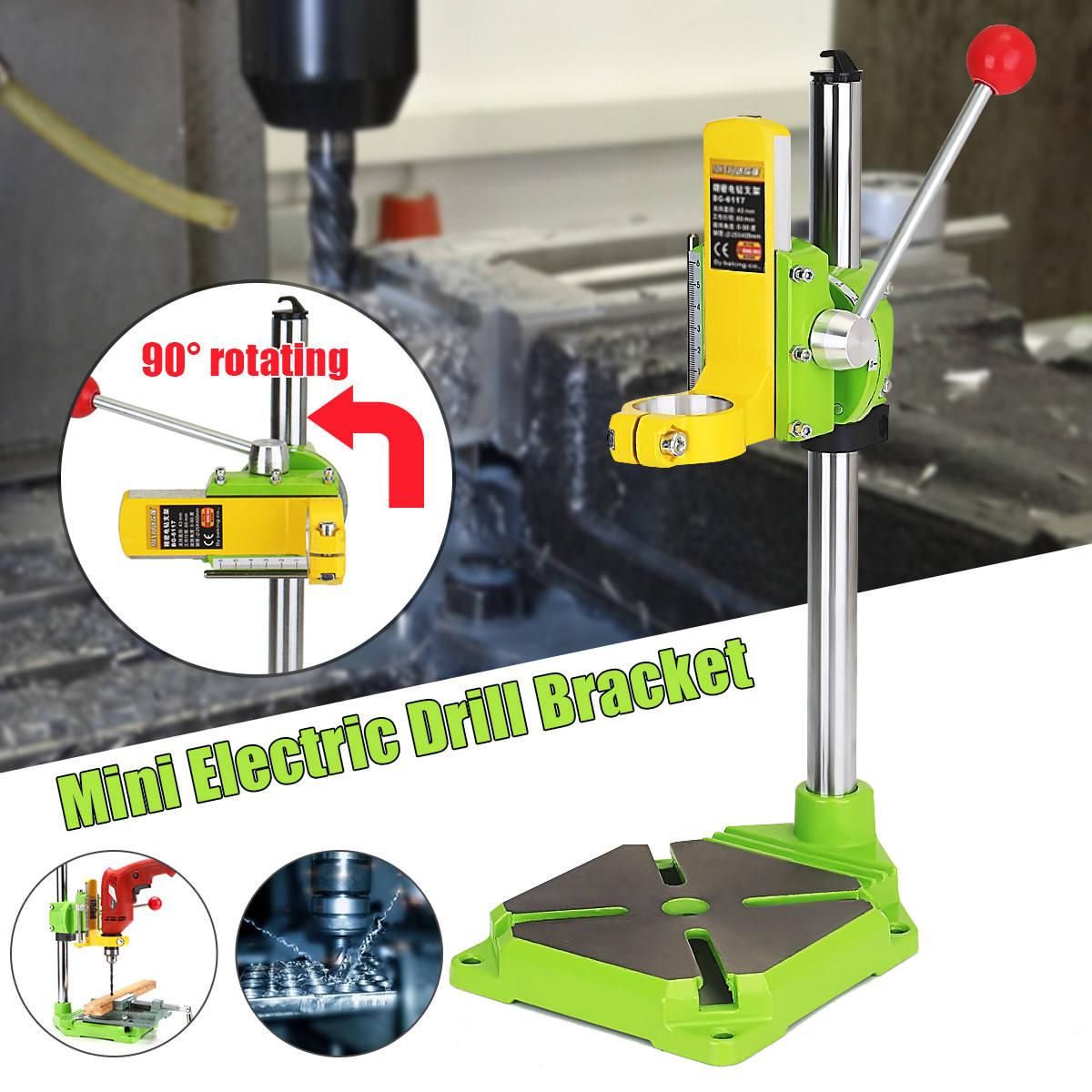 Support de support de perceuse électrique pour outil électrique support de pince de forage Durable outils électriques support de forage angle de réglage base