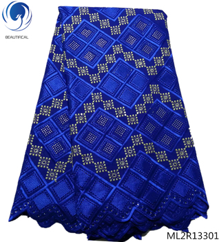 BEAUTIFICAL african voile cotton swiss lace blue lace fabric latest lace fabric free shipping 2019 arrival 5yards/lot ML2R133