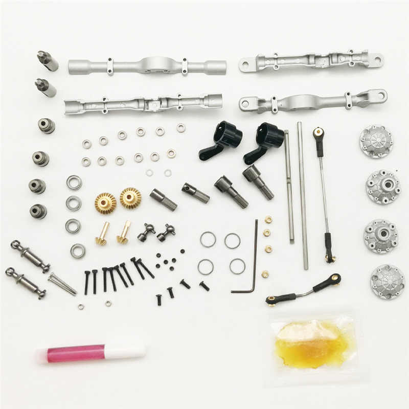 1 Set Voor Achter Metalen Brug As voor WPL B-1 B16 B24 B36 C14 C24 1/16 4WD 6WD Rc Auto onderdelen