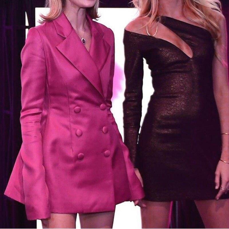 LANMREM 2019 nuevas chaquetas de moda de primavera para mujer de manga larga de doble botonadura de cuello entallado Venta caliente Chaqueta corta WD821-in chaqueta de deporte from Ropa de mujer    3