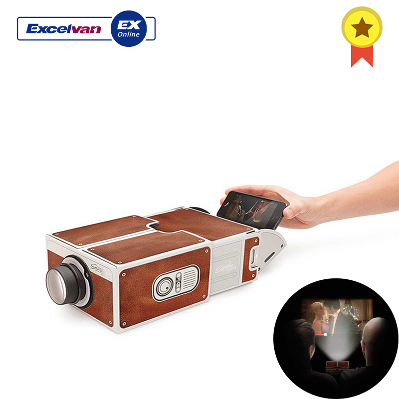 Festnight Mini Smart Phone Projector Cinema Portable Home Use DIY Cardboard Projector Family Entertainment Projective Device