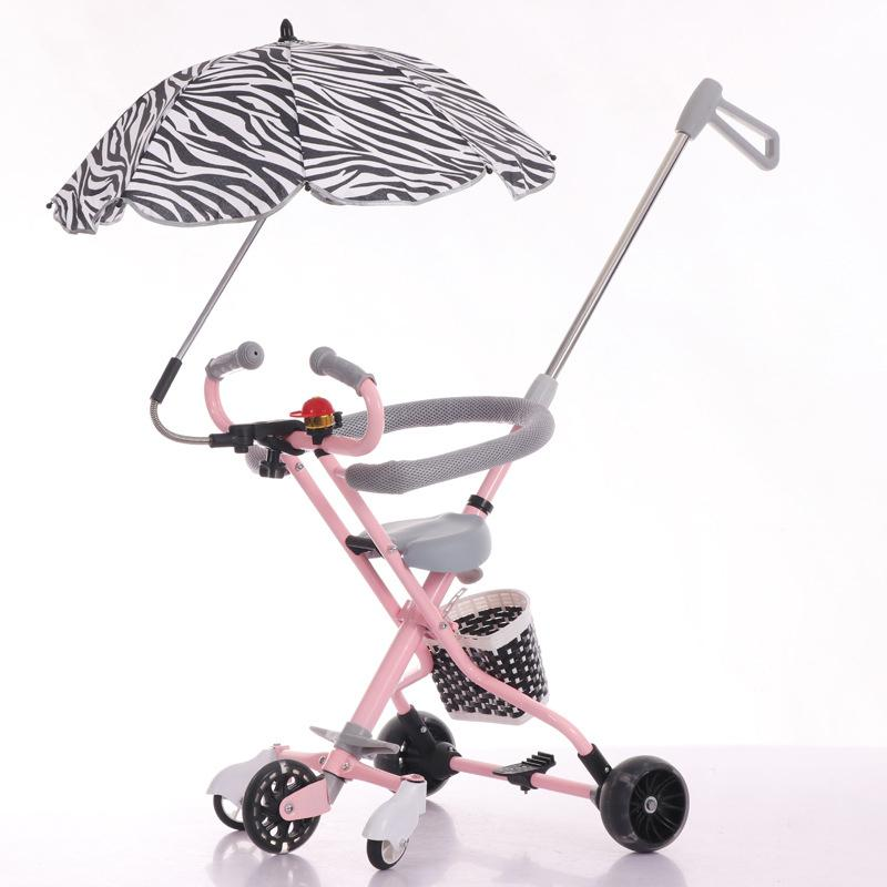 Kidlove New Large Ultra-lightweight Folding Stroller Compact Foldable Hand Push Trolley High Landscape Umbrella Baby Trolley