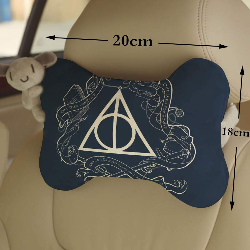 OHCOMICS 1Piece Harri Potter Hogwarts Gryffindor Slytherin Car Seat Headrest Head Neck Pillow Comfortable Soft Neck Rest Support