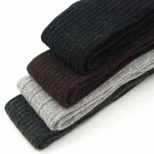 ผู้หญิงใหม่เลดี้ฤดูหนาวขนสัตว์อบอุ่นนุ่มถักเข่าเข่ารองเท้าบู๊ตยาวถักผ้าฝ้ายหนายาวถุงน่องต้นขาสูง Legging สีดำ