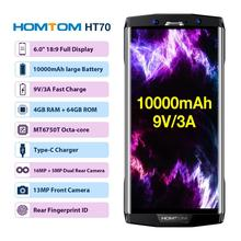 "HOMTOM HT70  Mobile Phone 4GB 64GB 6""18:9 HD+ Display Octa-core 13MP Front 16MP+5MP Dual Rear Cameras Fingerprint Smartphone"
