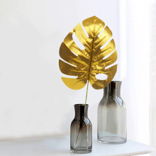 Gold Pretty Artificial Tropical Palm Leaves Simulation Leaf For DIY tropical Hawaiian Theme Party Home Garden Wedding decoration