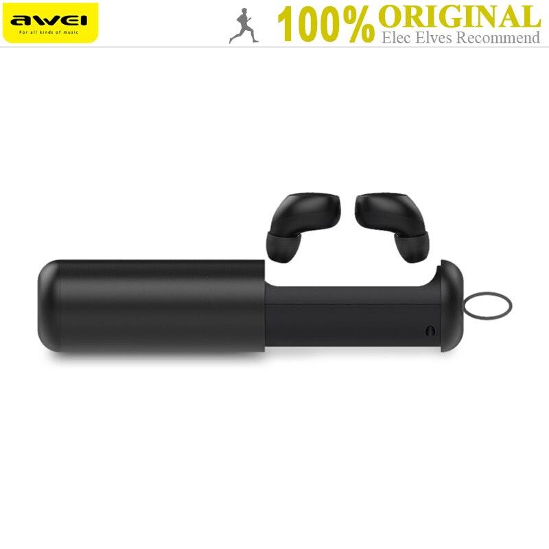 Awei T5 TWS Gemelli Auricolare Vero Wireless Bluetooth V5.0 Con Base di Ricarica di Controllo a Prova di Sudore In-Ear Sport Auricolari