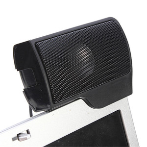 Image 4 - Portable Mini USB Stereo Speaker Soundbar clipon Speakers for Notebook Laptop Phone Music Player Computer PC with Clip