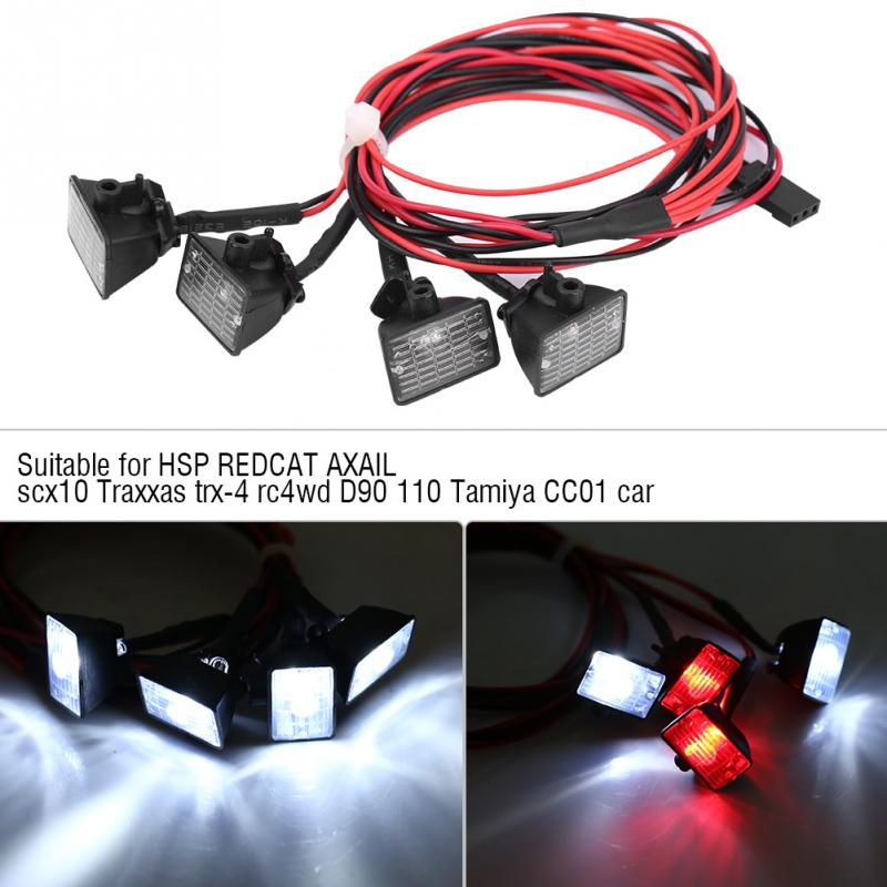 RC Crawler Roof Bright Lights LEDs Light Bar Lamp Accessory for Axial scx10 for Traxxas o-4 Car Plastic RC Model Part(China)