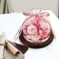 นิรันดร์ดอกไม้ DIY แห้ง Rose ของขวัญกล่องตกแต่งงานแต่งงานของขวัญวันวาเลนไทน์ Party Supplies Rose ดอกไม้-ใน ดอกไม้ประดิษฐ์และดอกไม้แห้ง จาก บ้านและสวน บน