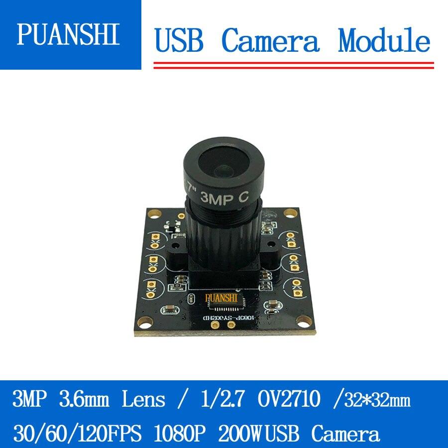 Caméra de Surveillance 1080 P Full Hd MJPEG 30/60/120FPS Haute Vitesse OV2710 Mini CCTV Android Linux UVC webcam module de caméra usb