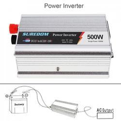 500W falownik samochodowy DC 12V 24V do AC 220V 110V USB samochodowy przemiennik mocy Adapter ładowarka transformator napięcia moc szczytowa 1000W w Inwertery samochodowe od Samochody i motocykle na