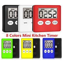 8 Colors Super Thin LCD Digital Screen Kitchen Timer Square Cooking Co