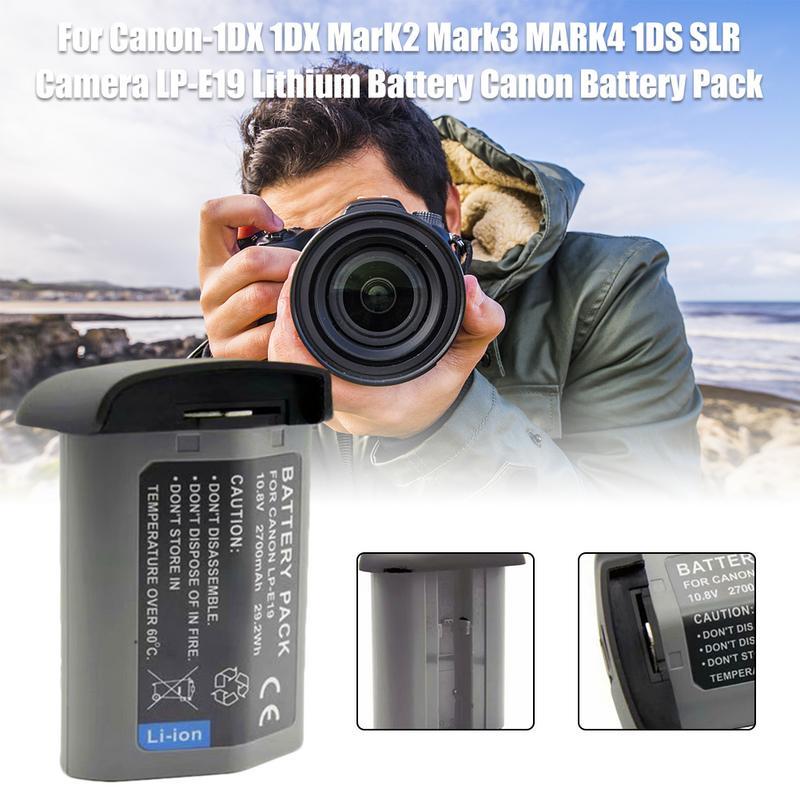 2700 mAh appareil photo LP-E19 batterie au Lithium Canon batterie pour Canon-1DX 1DX MarK2 Mark3 MARK4 1DS SLR