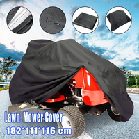 182*111*116cm Black Waterproof Polyester Tractor Grill Protection Cover For Garden Yard Mower Lawn Tools Mower Tractor Cover