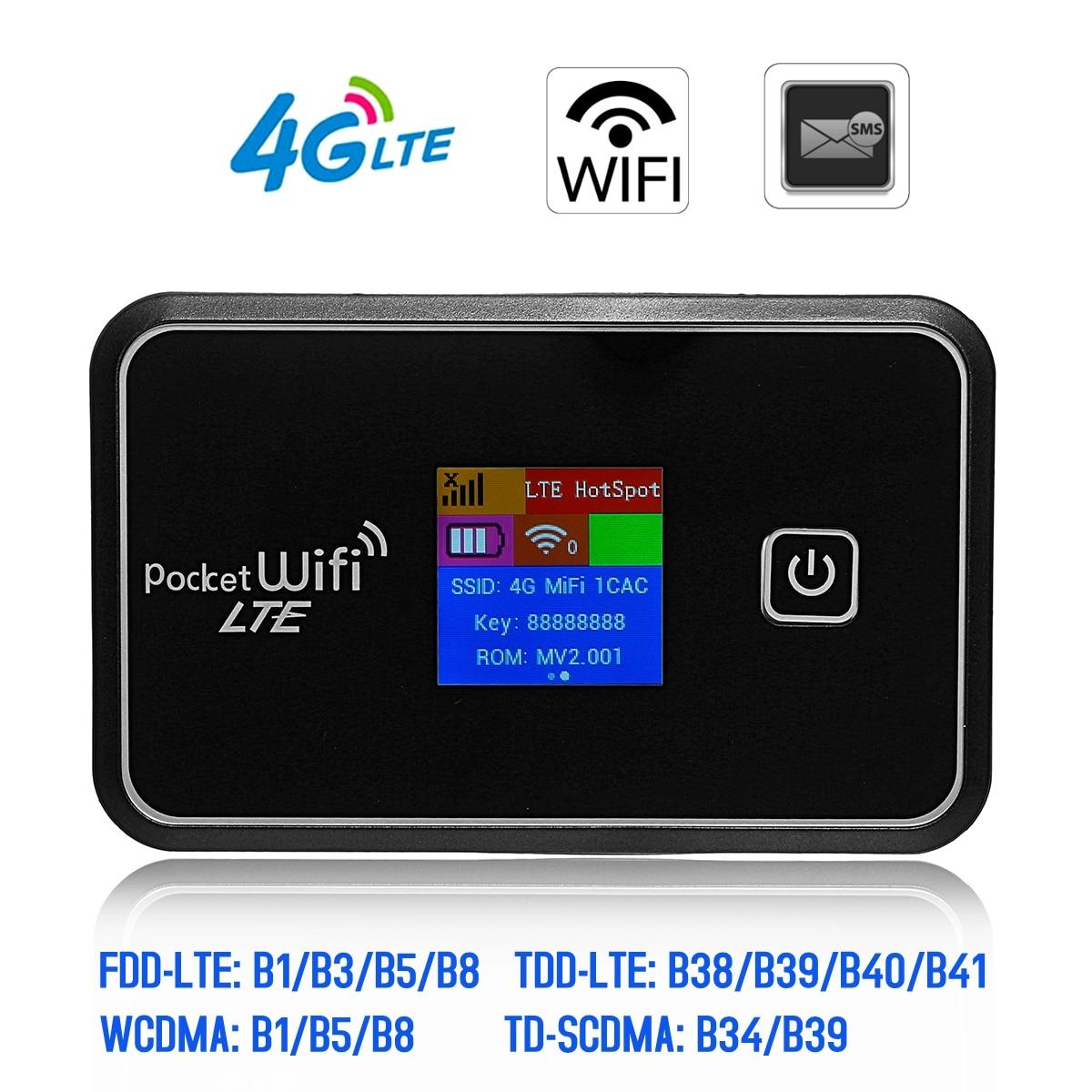 150 Mbps 4G Wifi routeur voiture Mobile Wifi Hotspot sans fil haut débit Mifi délockeds Modem avec fente pour carte Sim écran LCD