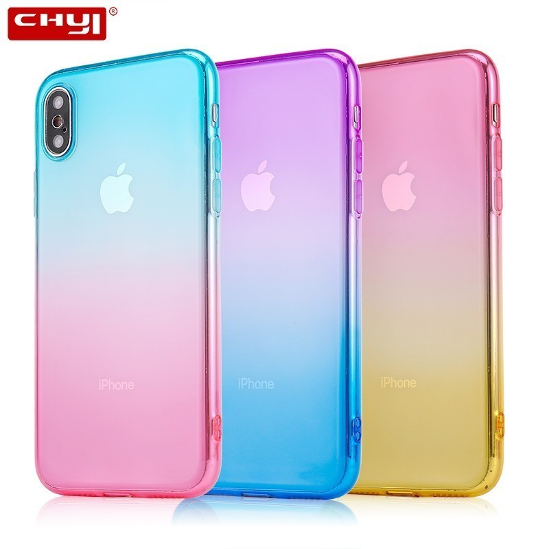 CHYI Phones Cases Covers For Iphone X XR Luxury Apple Phone Coque Cheap Smartphone Mobile Accessories Soft Silicone Fundas Shell image