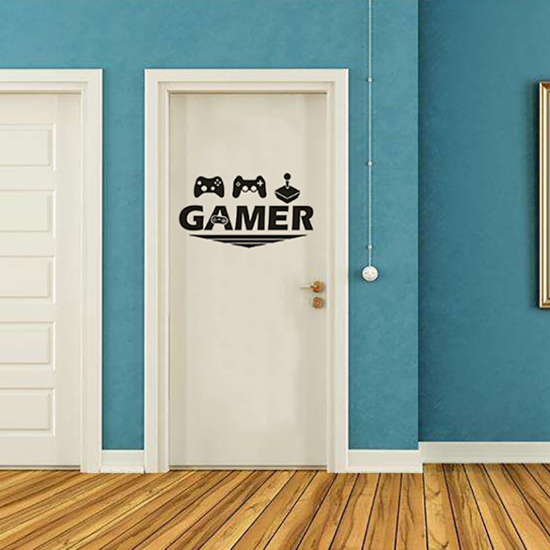 JX-LCLYL  New Gamer Console Joystick Wall Sticker Boy Bedroom Video Game Room Decor Decal
