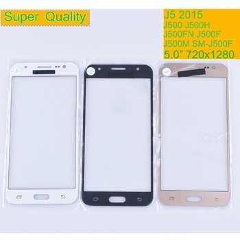 10Pcs/lot For Samsung Galaxy J5 2015 J500 J500H J500FN J500F SM-J500F Touch Screen Front Glass Panel TouchScreen LCD Outer Lens image