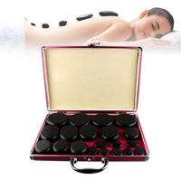 20 Pieces Set Spa Tone Thermostat Energy Stone Volcanic Hot Stone Spa Oil Stone Massage Stone With Heating Box
