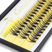 3ee419af652 Kimcci 60 Bundles Mink Eyelash Extension Natural 3D Russian Volume Faux  Eyelashes Individual 20D Cluster Lashes