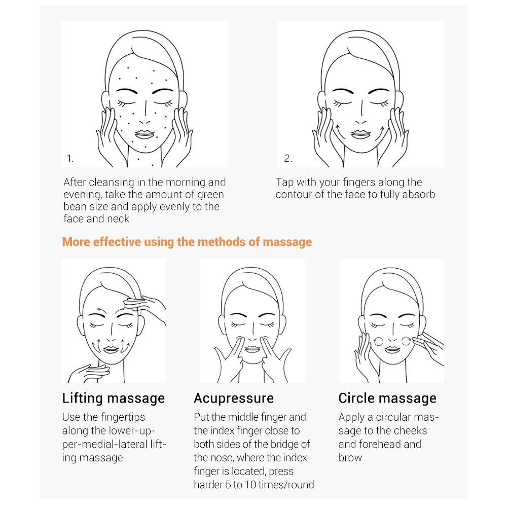 Buy 3 Get 1 Gift Lanbena Snail Repair Whitening Facial Cream Day Cream 3pcs + Eye Serum Eye Cream Dark Circle Skin Moisturizing