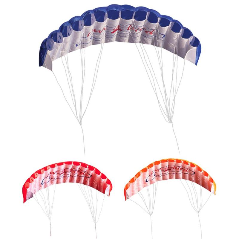 Outdoor Fun Sports Power Dual Line Stunt Parafoil Parachute Rainbow Sports Beach Kite For Beginner for 3 Colors