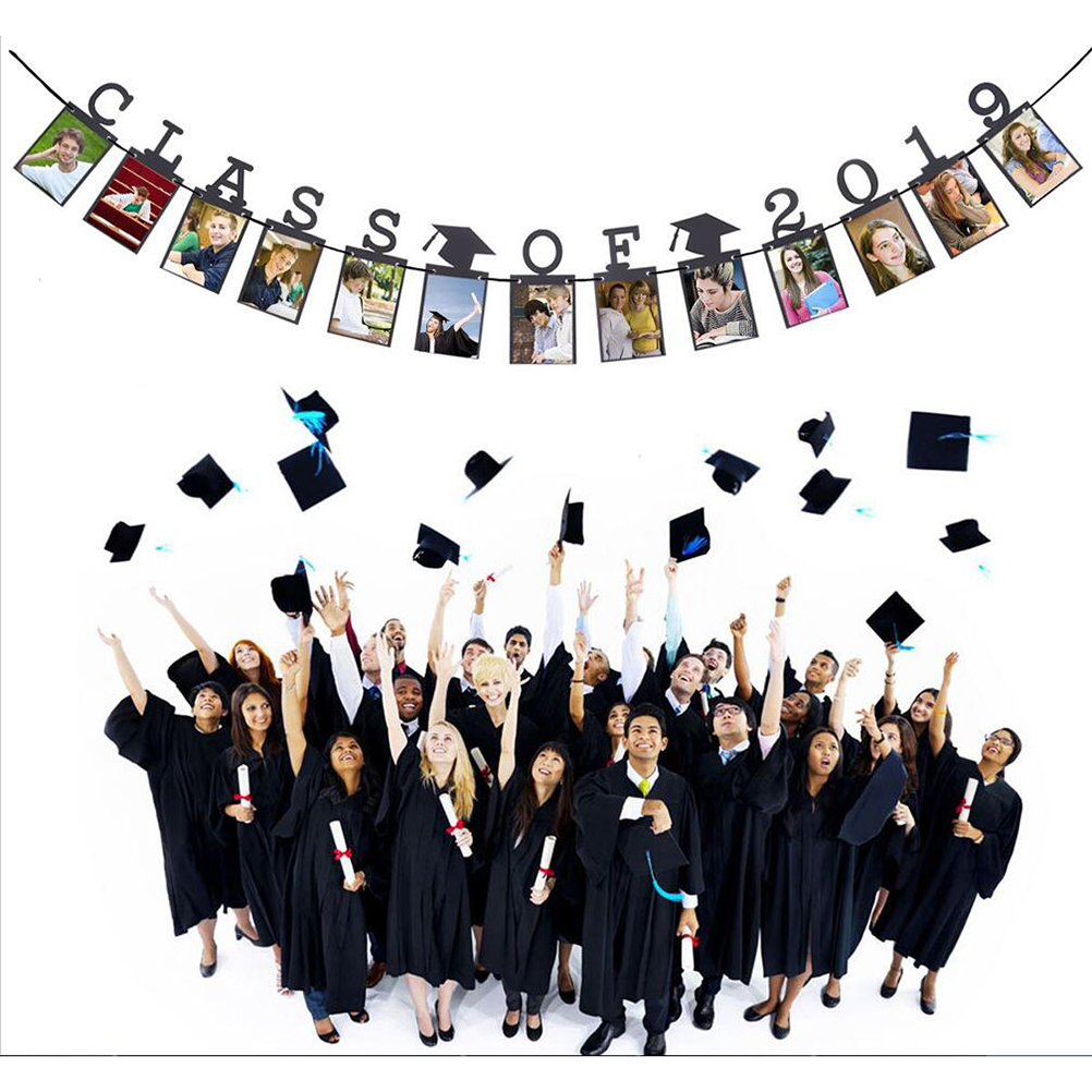 24pcs 2019 Graduation Photo Frame Banner Decorations ...