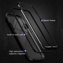 mobile cell phone 360 armor shockproof cover tempered Glass magnetic Adsorption FOR SAMSUNG Galaxy note 9