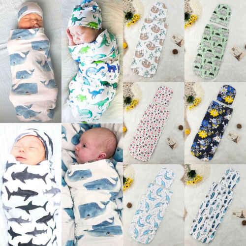 Милый Хлопок Canis новорожденных Акула одеяло муслиновая пеленка Пеленальный мешок с шляпой