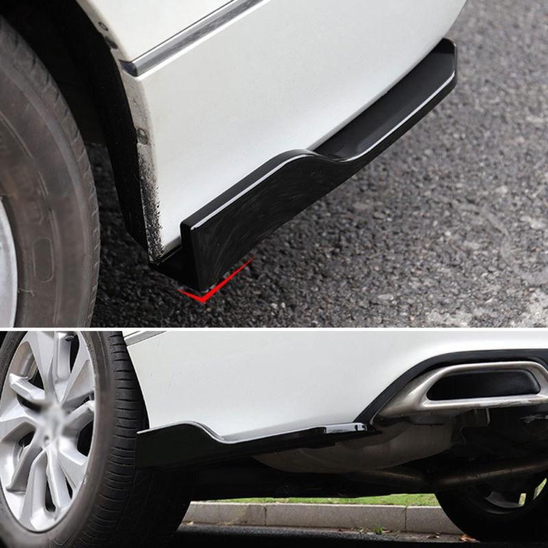 Fit For Honda/Accord 2018 2PCS Car Rear Bumper Skirt Spoiler Lip Side Wing Trim