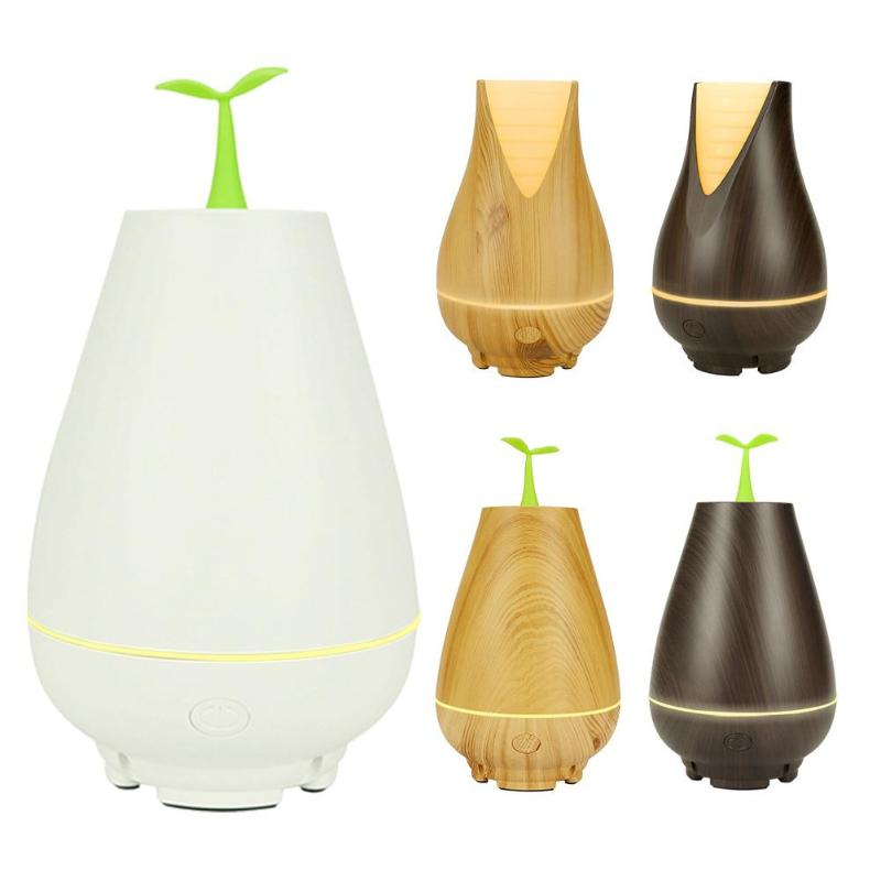 100ML Ultrasonic USB Air Humidifier Warm Light LED Function Aroma Essential Oil Diffuser With Five Styles For Your Option