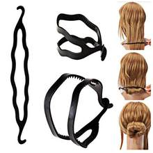 Braiding Stick Women Maker Bun Black Styling Fashion Hair Magic Tool New Hair Twist Clip Magic(China)
