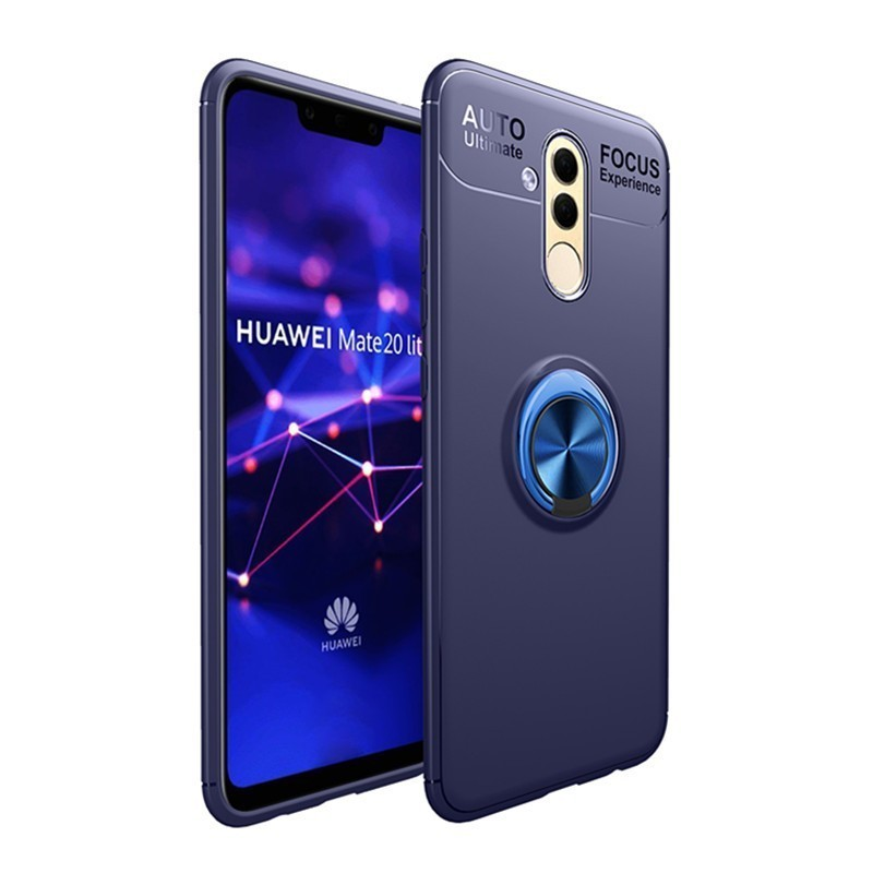Huawei Mate 20 Lite Case Mate 20 Lite Cover QAZ Maggie Shockproof Bumper Metal Ring Holder Bracket Case For Huawei Mate 20 Lite