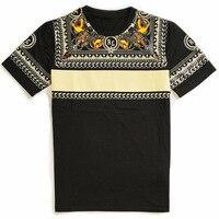 2019 New Short Sleeve Tee Shirt Retro Patchwork T Shirt Men Cotton O neck Loose Summer T shirt for Mens Casual Tshirt Homme B162