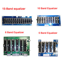 DYKB Stage Stereo EQ Equalizer Board 5/6/10/ 15 Band 2.0 Channel Preamplifier Tone Adjustable Preamp front panel FOR Amplifier