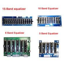 Tablero ecualizador EQ estéreo de escenario DYKB 5/6/10/ 15 banda 2,0 canales preamplificador tono preamplificador ajustable preamplificador panel frontal para amplificador