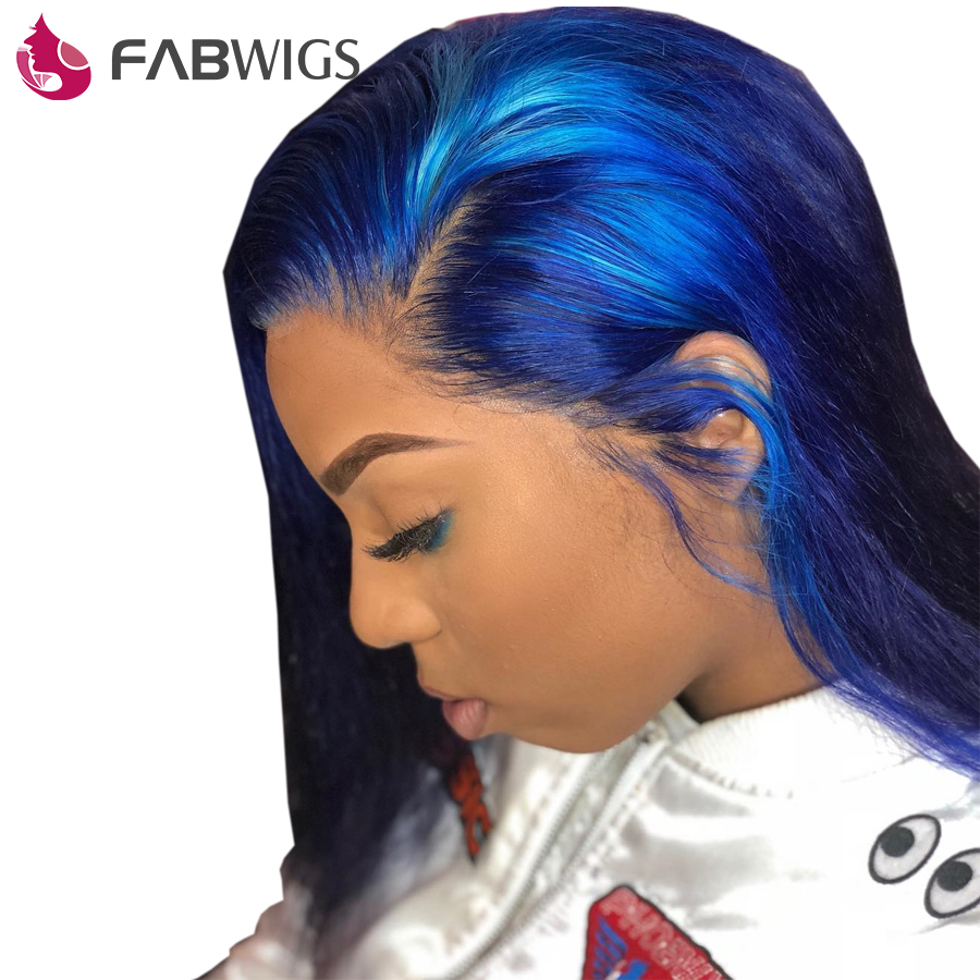Fabwigs 250 Density Lace Front Human Hair Wigs With Baby