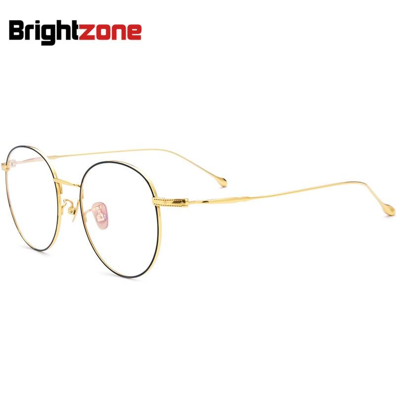 Premium Collection Oversize Full-rim Myopia Glasses Spectacle Female Eyeglass Frame Myopia Gold IP Electroplate Man Lens Frames