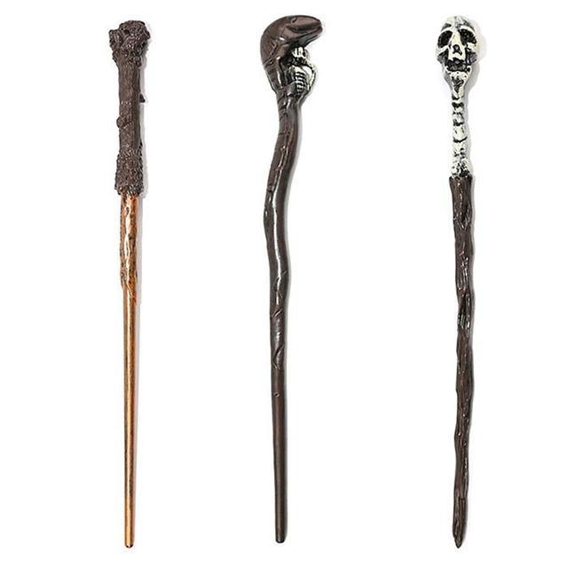 Gorące popularne kolekcja wąż czaszka kształt magiczna różdżka dzieci Role Play Cosplay Core Harry Potter magiczne zabawki magiczna różdżka