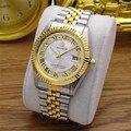 Mode Klassische REGINALD Marke Datejust Quarzuhr Männer Geriffelte Lünette Vintage Roman Dial Voller Edelstahl Leuchtende Uhr
