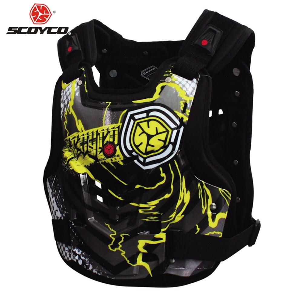 SCOYCO Plastron Moto Protection gilet pare-balles Motocross Marchandises Gilet Vêtements Dos Moto Croix Équipement Gear Armour