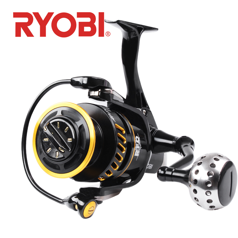 RYOBI AP POWER III Spinning Fishing Reel 6000/8000/10000 Gear Ratio 5.0:1 carretilha de pesca Full Metal Body Fishing reels-in Fishing Reels from Sports & Entertainment    1