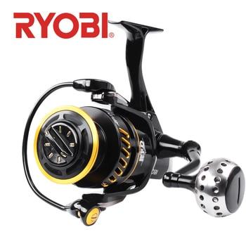RYOBI AP POWER III Spinning Fishing Reel 6000/8000/10000 Gear Ratio 5.0:1 carretilha de pesca Full Metal Body Fishing reels
