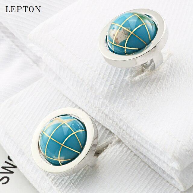 новый глобус лептон запонки в виде земного шара для мужчин высокое фотография