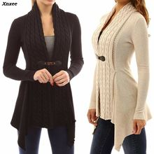 Xnxee 2019 Autumn And Winter Cardigan Women Fashion Sweater Loose Coat With Belt Elegant
