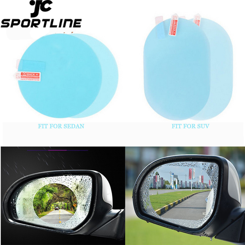 On Sale Car Rearview Mirror Rainproof Film Anti Fog Window Clear Waterproof Rear View Mirror Nano Coating Transparent Protective(China)